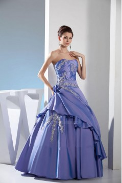 Ball Gown Strapless Long Prom Evening Formal Dresses ED010905