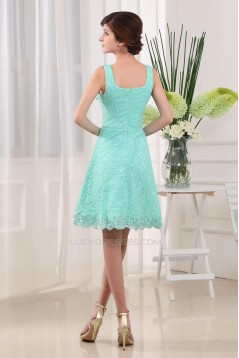 A-Line Straps Short Lace Prom Evening Formal Dresses ED010910