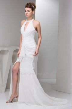Long White Chiffon Prom Evening Formal Dresses ED010921