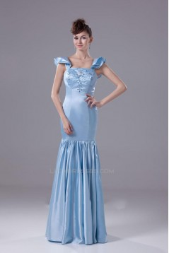 Trumpet/Mermaid Cap Sleeve Beaded Long Prom Evening Formal Dresses ED010927