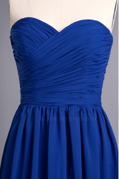 A-Line Sweetheart Long Blue Chiffon Prom Evening Formal Dresses ED010959