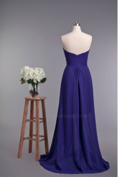 A-Line Sweetheart Split-Front Beaded Lace and Chiffon Prom Evening Formal Dresses ED010963
