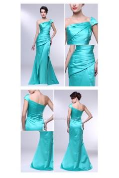 Trumpet/Mermaid One-Shoulder Long Prom Evening Formal Dresses ED010975