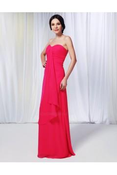 A-Line Sweetheart Long Chiffon Prom Evening Formal Dresses ED010985