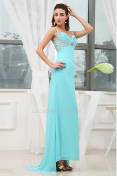 A-Line Asymmetrical Spaghetti Straps Chiffon Prom/Formal Evening Dresses 02020001