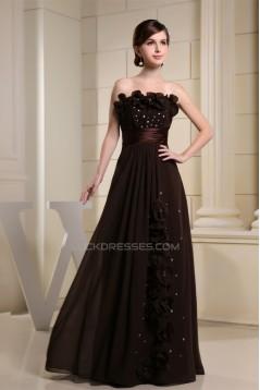 A-Line Chiffon Sleeveless Long Prom/Formal Evening Dresses 02020012