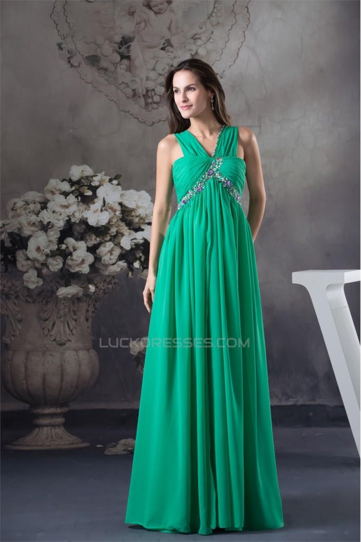 Empire Sleeveless Beading Chiffon Long Prom/Formal Evening Maternity Dresses 02020030