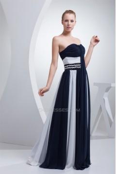 A-Line Sleeveless Beading Floor-Length Soft Sweetheart Prom/Formal Evening Dresses 02020031