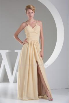 A-Line Sleeveless Floor-Length Ruffles V-Neck Prom/Formal Evening Dresses 02020036