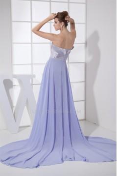 Sheath Sweetheart Chiffon Elastic Woven Satin Long Prom/Formal Evening Dresses 02020046