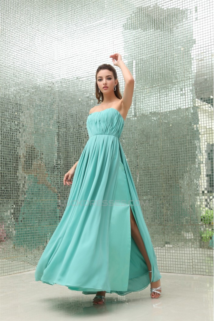 A-Line Sweetheart Ruffles Sleeveless Chiffon Long Evening Party Bridesmaid Dresses 02020047