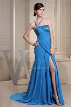 Sheath V-Neck Beading Court Train Sleeveless Long Prom/Formal Evening Dresses 02020048