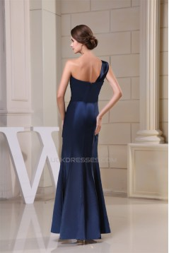 Trumpet/Mermaid One-Shoulder Long Evening Party Bridesmaid Dresses 02020056