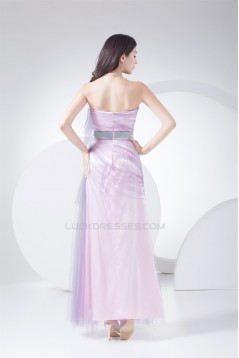 Ankle-Length Fine Netting Long Prom/Formal Evening Dresses 02020058