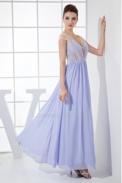 Ankle-Length Straps Sheath/Column Ruched Long Formal Bridesmaid Dresses 02020059