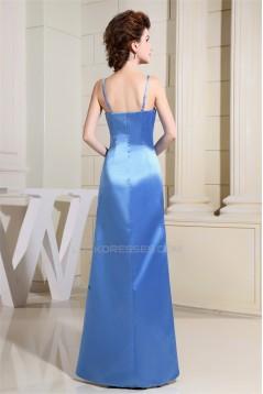 Beading A-Line Floor-Length Satin Sleeveless Prom/Formal Evening Dresses 02020066