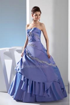 Beading Floor-Length Strapless A-Line Sleeveless Prom/Formal Evening Dresses 02020077