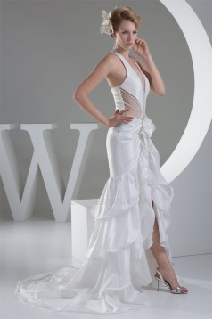 Beading Halter Sleeveless Taffeta Fine Netting Prom/Formal Evening Dresses 02020079