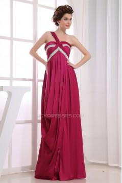 Beading Empire One-Shoulder Long Prom/Formal Evening Dresses Maternity Evening Dresses 02020082
