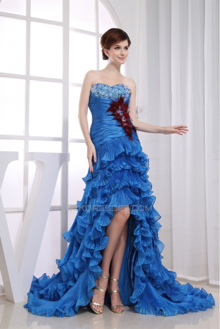 Beading Silk like Satin Korea Yarn Sweetheart Prom/Formal Evening Dresses 02020088