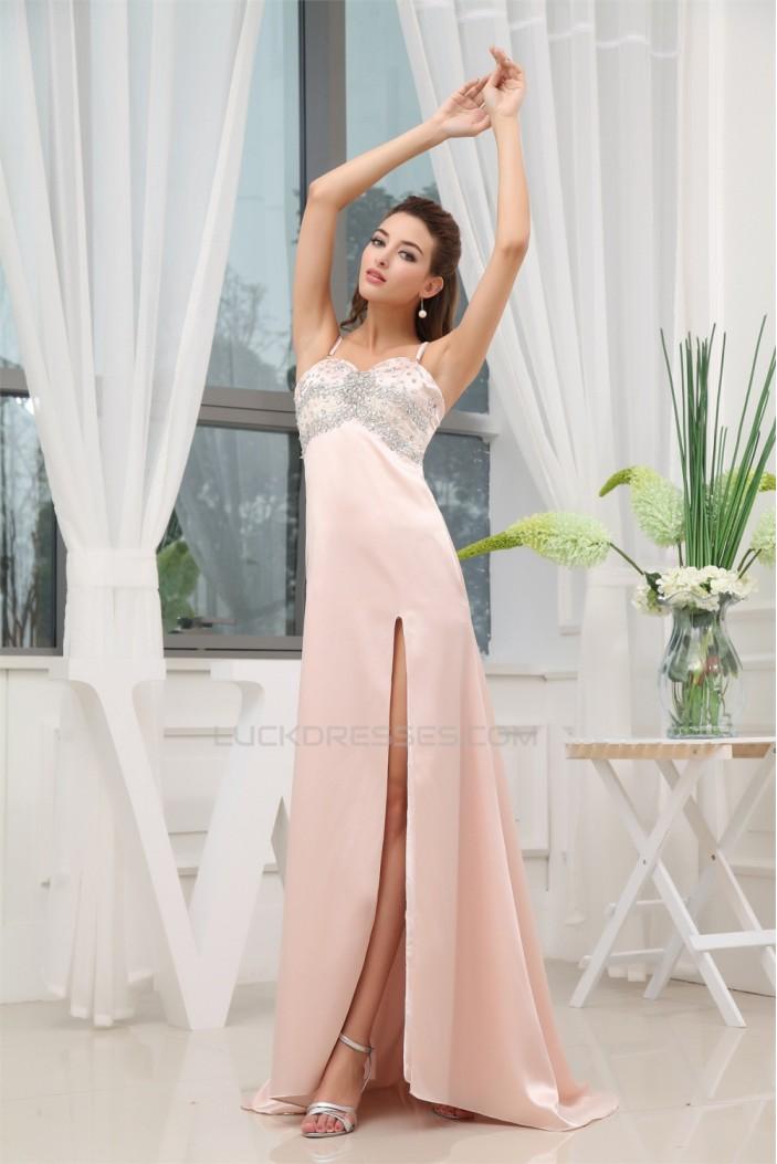 Beading Sleeveless Puddle Train Long Prom/Formal Evening Dresses 02020089