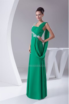 Beading Sleeveless Strapless Floor-Length Long Green Evening Formal Bridesmaid Dresses 02020097