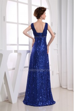 Beading Square A-Line Floor-Length Illusion Sleeves Sequins Prom Evening Formal Dresses 02020099
