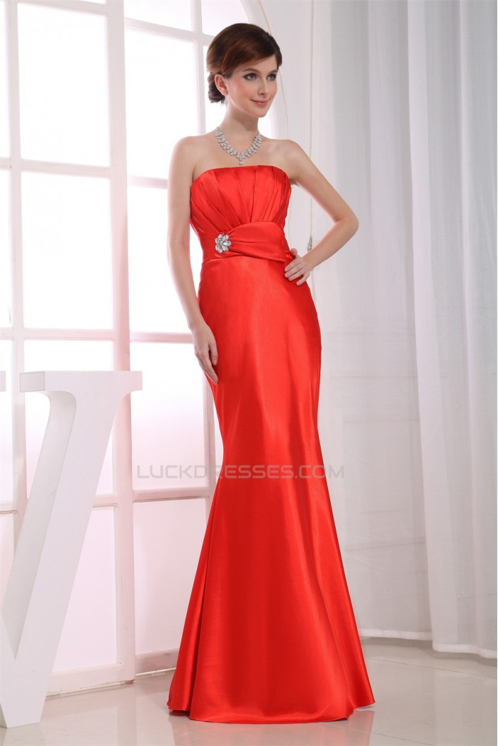 Trumpet/Mermaid Beading Strapless Prom/Formal Evening Dresses 02020100