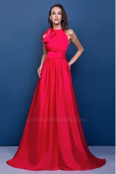 A-Line Long Red Prom Evening Party Dresses 02021004