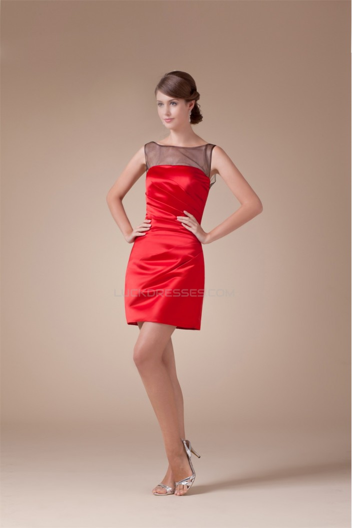 Short Red Black Evening Party Dresses 02021009