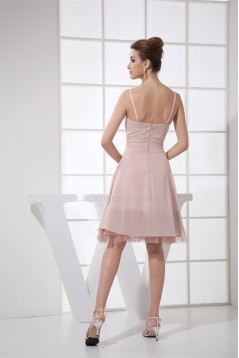 A-Line Chiffon Silk like Satin Fine Netting Prom/Formal Evening Dresses 02021016
