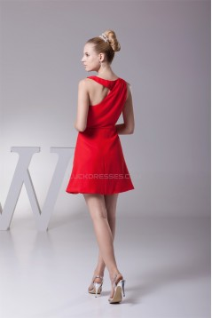 A-Line Scoop Sleeveless Chiffon Evening Party Bridesmaid Dresses 02021025