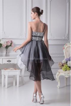 A-Line Sleeveless Short Beaded Prom/Formal Evening Dresses 02021028