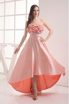 A-Line Sleeveless Silk like Satin Asymmetrical Prom/Formal Evening Dresses 02021030