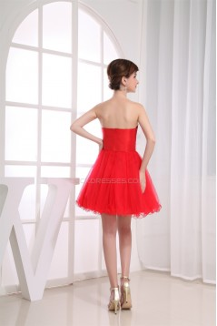 A-Line Fine Netting Short/Mini Prom/Formal Evening Dresses 02021031