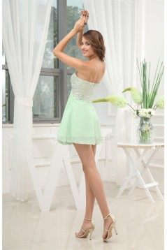 A-Line Sweetheart Short/Mini Chiffon Sequined Material Prom/Formal Evening Dresses 02021033