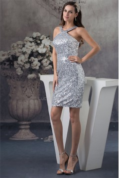 Amazing Short/Mini Sheath/Column Scoop Sleeveless Sequins Dresses 02021034