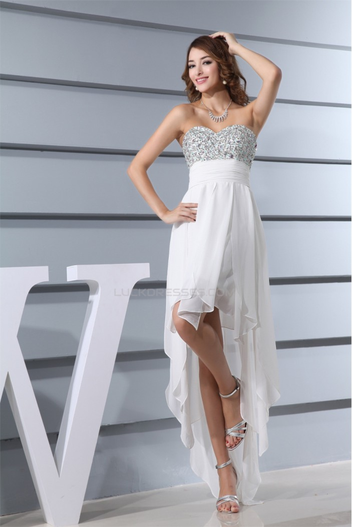 High Low Chiffon A-Line Prom/Formal Evening Dresses 02021036