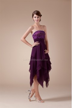 Asymmetrical Sleeveless Chiffon Silk like Satin Prom/Formal Evening Dresses 02021039