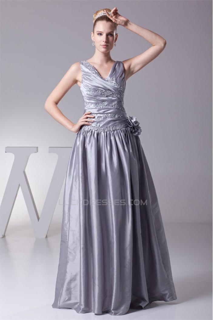 Beading Taffeta Floor-Length Long Prom/Formal Evening Dresses 02020104