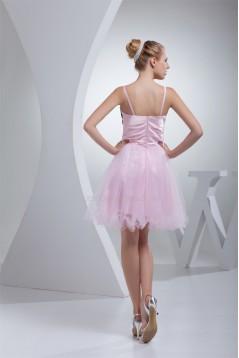 Beading Lace Silk like Satin Fine Netting Prom/Formal Evening Dresses 02021045
