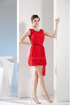 Beading Sheath/Column Short/Mini Chiffon Prom/Formal Evening Dresses 02021048