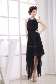 A-Line Chiffon Beading Sleeveless Prom/Formal Evening Dresses 02021051