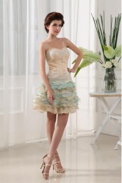 Beading Sleeveless Short/Mini Sweetheart Prom/Formal Evening Dresses 02021054