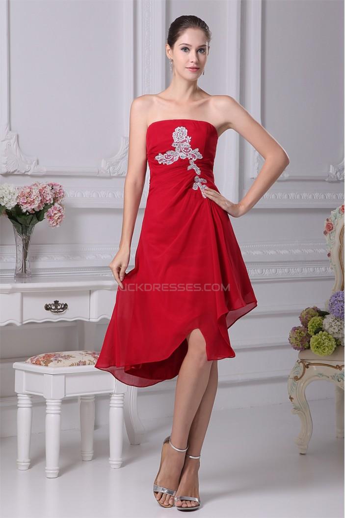 Beading Strapless Chiffon Prom/Formal Evening Dresses 02021056