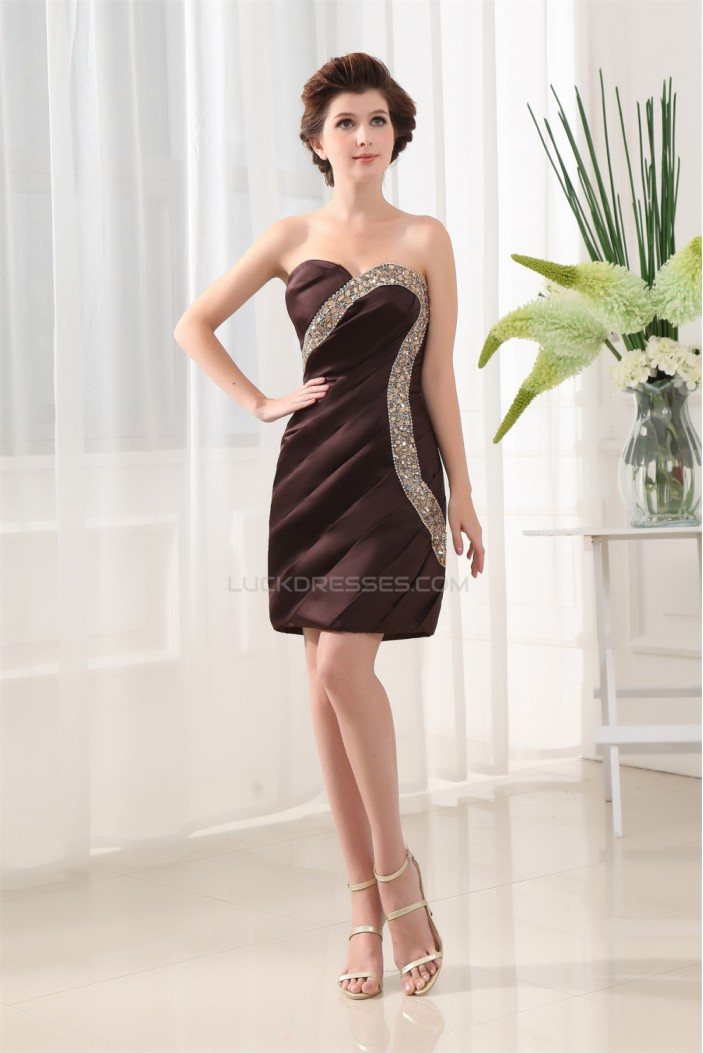 Beading Sweetheart Short/Mini Sheath/Column Prom/Formal Evening Dresses 02021057