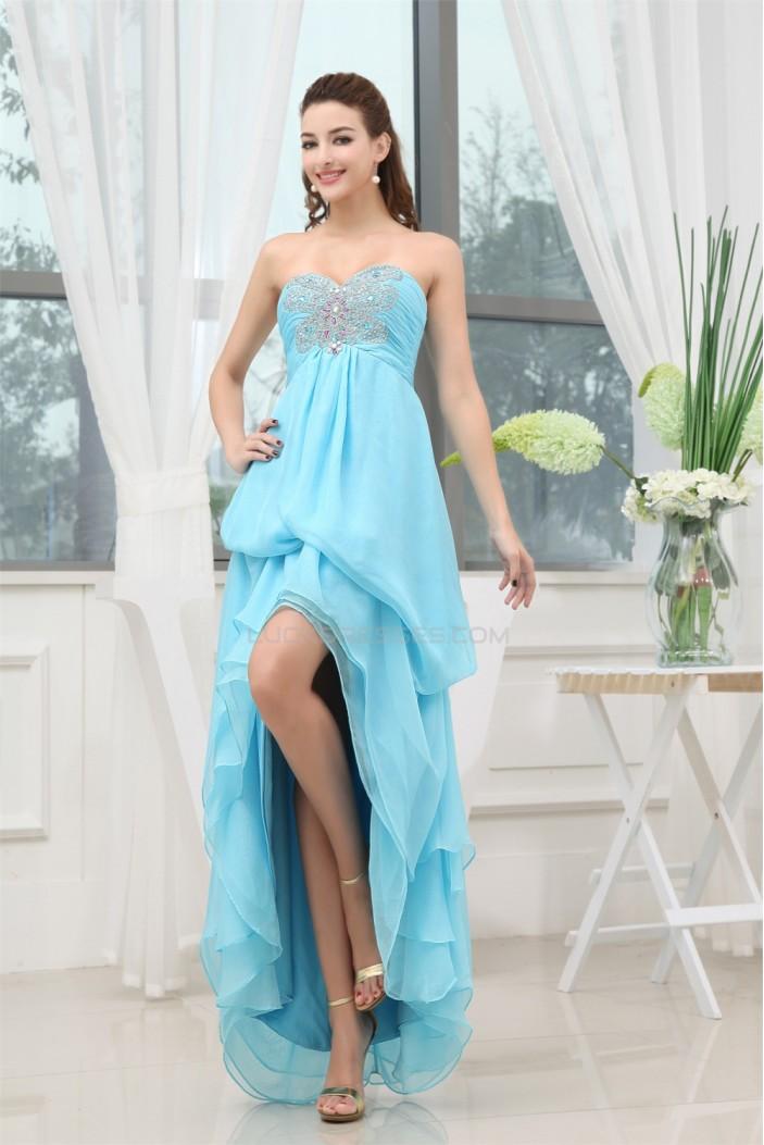 Beading Sweetheart Sleeveless Asymmetrical Prom/Formal Evening Dresses 02021058