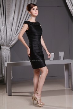 Charming Beading Sheath/Column Short Short/Mini Little Black Dresses 02021067