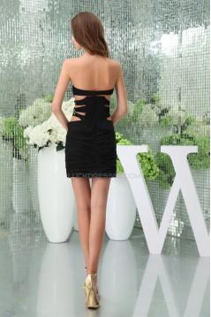 Chiffon Beading Sheath/Column Sleeveless Bridesmaid Dresses 02021069