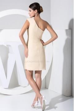 A-Line Halter Knee-Length Short Beaded Prom/Formal Evening Dresses 02021070
